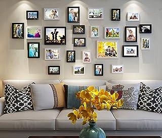 Art Street - Enormous Set of 26 Individual Black & White Wall Photo Frame(4X6,6X8,8X10)