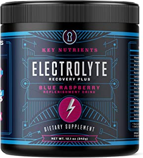Electrolyte Powder, Blue Raspberry Hydration Supplement: 90 Servings, Carb, Calorie & Sugar Free, Delicious Keto Replenish...