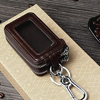 Keycase TP-9009 Double-Deck Multi-Function Car Key Bag(Coffee) Car Key Case Accessories (Color : Coffee)