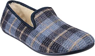 Cotswold Mens Wallis Slip On Tartan Slippers