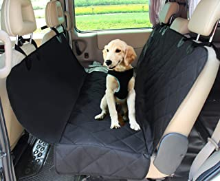 JESPET Dog Car Seat Cover for Pets, Dog Car Travel Car Seat Protector for Cars, Trucks, SUV, Black
