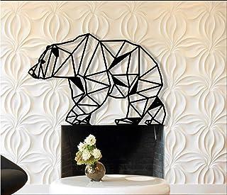 d/écoration murale en m/étal /él/éphant g/éom/étrique en m/étal D/écoration murale en m/étal 60x40cm noir