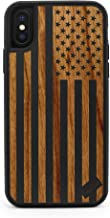 iPhone X/Xs Case, CaseYard, Premium Hybrid Protective, Made in California (Reg-Protective) (Black) American Flag