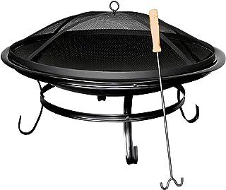 Feuerschale, schwarz, Durchmesser Schale = 75 cm Hohe = 40 cm