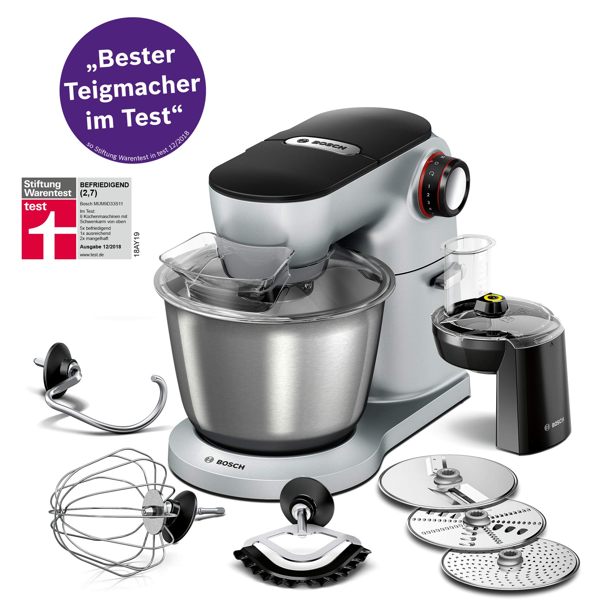 Bosch MUM9D33S11 - Robot de cocina (5,5 L, Acero inoxidable, Giratorio, 220-240 V, 50-60 Hz, Acero inoxidable): Amazon.es: Hogar