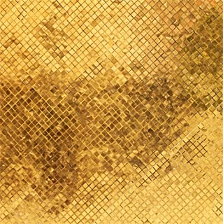CSFOTO 8x8ft Background for Glossy Gold Mosaic Tile Wall Texture Grand Palace Close Golden Tiles Photography Backdrop Glistering Photo Studio Props Vinyl Wallpaper
