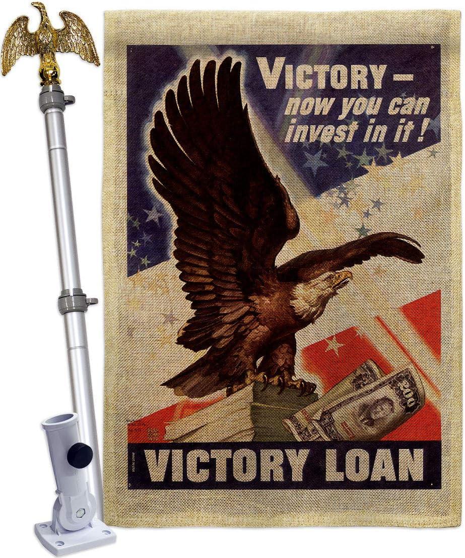 USBrotherhood Arlington Limited price sale Mall Invest Victory Burlap House Eagle Flag F Armed Set