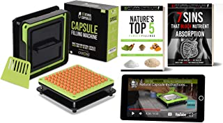 NATURAL Capsule Filling Machine for Size 00 - Make Your Own Capsules in 5 Minutes Quick and Easy - Best for Use with Empty Gelatin or Vegetarian Caps - & Clear Illustrated Video Instructions