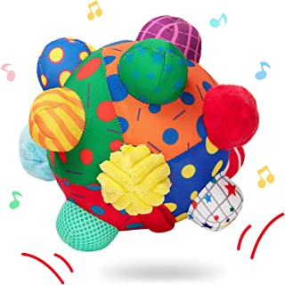 teytoy Baby Music Shake Dancing Ball Toy, Developmental Bumpy Ball Sensory Soft Toys, Easy to Grasp Bumps Help Develop Mot...