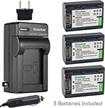 Kastar Battery 3 Pack + Charger for Sony NP-FV30 NP-FV40 NP-FV50 & Sony Handycam HDR-CX380 430V 900 580V 760V HDR-PJ540 650V HDR-PV710V 790V 810 HDR-TD30V FDR-AX100 DCR-SR DCR-SX HDR-CX HDR-XR Series
