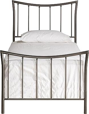 Hillsdale Furniture 1333BTWR Hillsdale Edgewood Frame Twin Bed Set Magnesium Pewter