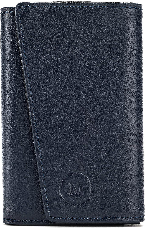 Le Petit Boss by Maciek - Genuine Leather Slim Trifold RFID Wallet Card Holder (Tri-Fold)