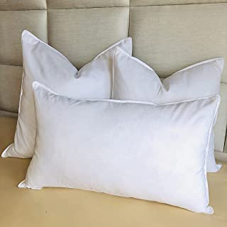 """Luxury Feather Cushion Insert Filler Inner Pad (4 sizes) Soft White Throw Pillow (65x65cm/26"""")"""