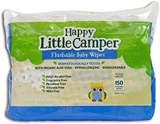happy little camper flushable wipes