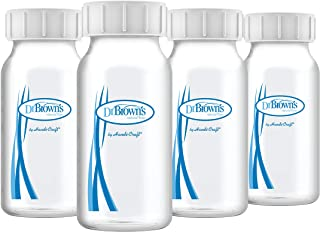 Dr. Brown's Breastmilk Collection Bottles, 4 oz/120 ml, 4-Pack