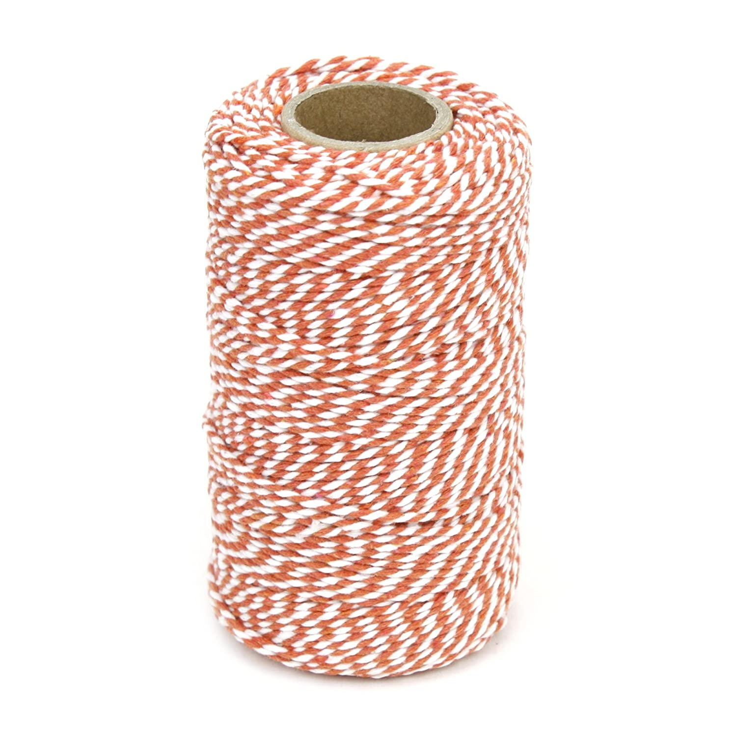 Kel-Toy Inc 2-mm-by-328-feet Baker's Twine Cord, Orange and White