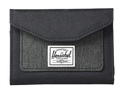 Herschel Supply Co. Orion Wallet (Black/Black Crosshatch) Wallet Handbags
