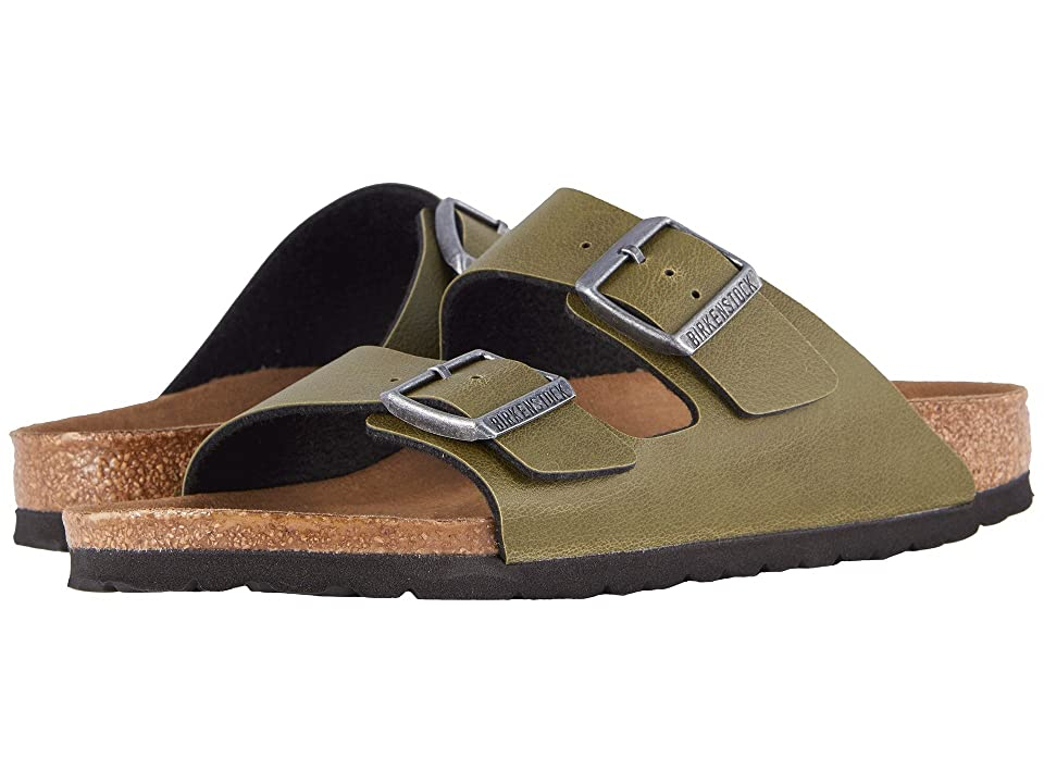 Birkenstock Arizona Vegan (Olive Pull Up) Sandals