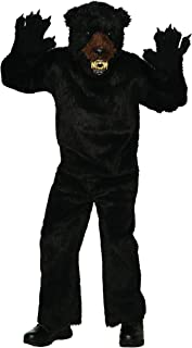 79308 Men's Deluxe Scary Bear Costume, Standard, Black, Pack of 1
