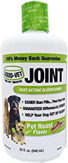 Liquid-Vet Joint Formula - Fast Acting Glucosamine for Joint Aid in Canines - Economy Size - 32 Fluid Ounces