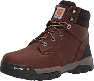 """Carhartt Men's Ground Force 6"""" Waterproof Soft Toe Boot CME6047 Construction, Bison Brown Oil TAN, 8.5"""