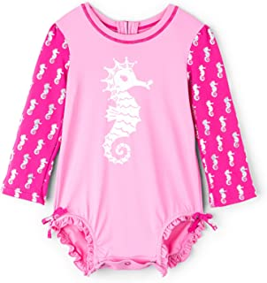 Hatley Girls' Baby Mini One Piece Rash Guards