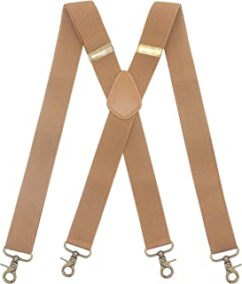 آویز مردانه 4 قلاب محکم قابل چرخش بریس قابل تنظیم الاستیک راحت X سبک بند سنگین
