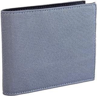40 COLORI - Portafoglio Tinta Unita in Pelle e Maglia di Seta (EUR), Blu,