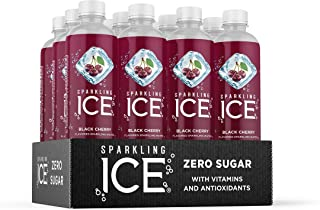 Sparkling Ice, Black Cherry Sparkling Water, with Antioxidants and Vitamins, Zero Sugar, 17 fl oz Bottles (Pack of 12)