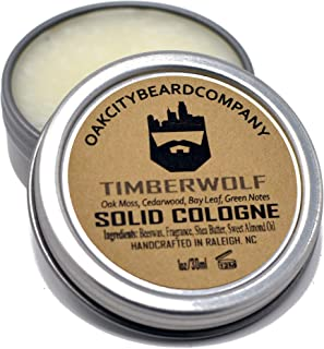 OakCityBeardCo. - Timberwolf - Men's Solid Cologne - 1oz
