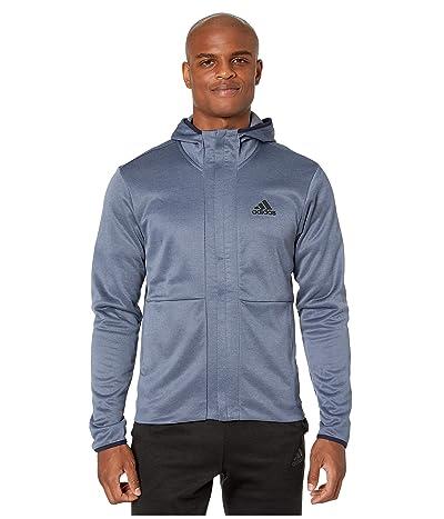 adidas Team Issue Full Zip Hoodie (Tech Ink/Heather/Black) Men