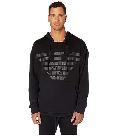 Emporio Armani Terry Megalogo Sweater (Black) Men