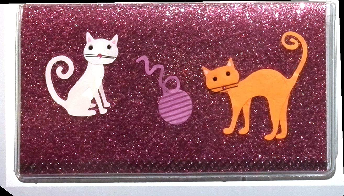 Checkbook Cover with Cats & Yarn & 50 Page Register
