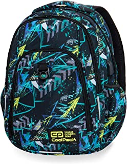 CoolPack - Mochila Strike Palms Tangle/Scribbles+puerto USB + linterna de regalo