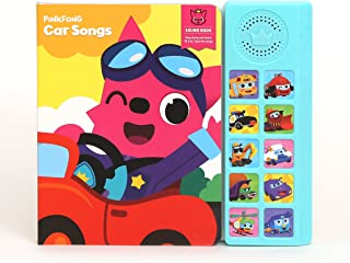 """Pinkfong Children's Car Songs Sound Book, 8.7"""" x 7.8"""", Yellow/SkyBlue"""