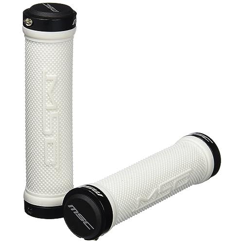 MSC Bikes MSC 130 mm - Puños blocantes y arandela de ciclismo, color blanco /