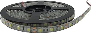 شريط ضوء LED من بيرلايت 5 متر 16.4 قدمSMD 5050 تيار متواصل 12 فولط، LED مقاوم للماء مرن، للإضاءة المنزلية، والمطبخ، والعطل...
