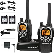 Midland 50 Channel Waterproof GMRS Two-Way Radio - Long Range Walkie Talkie with 142 Privacy Codes, SOS Siren, and NOAA We...