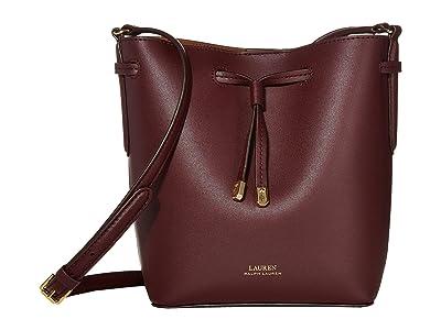 LAUREN Ralph Lauren Debby II Drawstring Mini (Bordeaux/Field Brown) Handbags