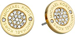 Michael Kors Logo with Clear Pavé Center Stud Earring