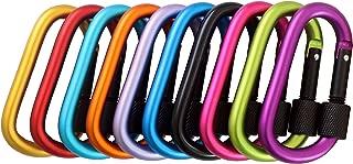 YAKA 10pcs Outdoors Carabiner Clip Locking Set 3
