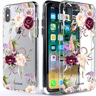 luolnh Compatible with iPhone Xs Max Case,iPhone Xs Max Case with Flower,Slim Shockproof Clear Floral Pattern Soft Flexible TPU Back Cover for iPhone Xs Max 6.5 inch (2018)-C