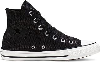 Converse Women's CTAS Hi White/Black Sneaker, 8.5 M US