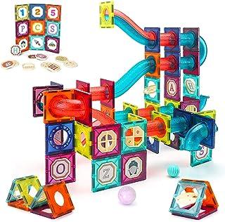 VATOS klocki magnetyczne 125 szt. Duża budowa macierzystych klocków budowlanych zestaw zabawek montessori dla dzieci od 3 ...