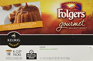 Folgers Gourmet Selections, Caramel Drizzle, 12 K-Cups