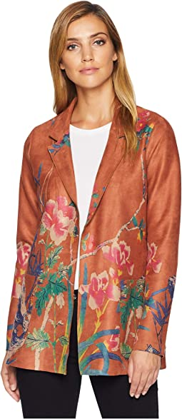 Faux Suede Printed Jacket
