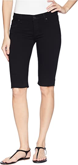 Hudson Amelia Cut Off Knee Shorts in Black