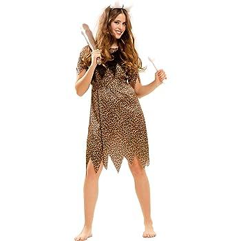Disfraces FCR - Disfraz cavernícola mujer talla 44: Amazon.es ...