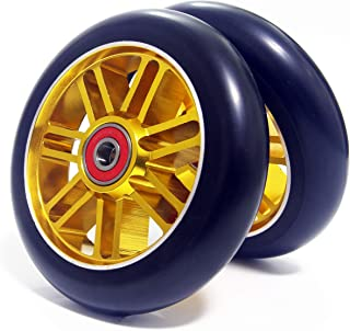 Z-FIRST 2PCS 110mm Pro Scooter Wheels with ABEC 9 Bearings Fit for MGP/Razor/Lucky Pro Scooters