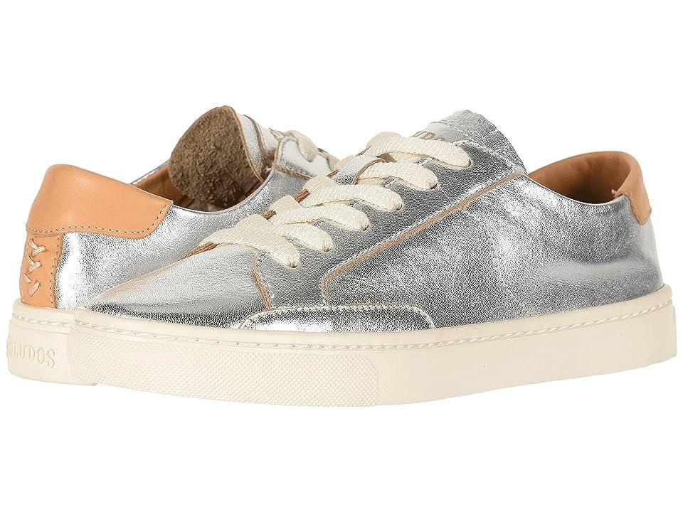 Soludos Ibiza Leather Sneaker (Silver) Women